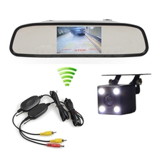 "Wireless Auto Parking Rear View Camera Car Camera 4.3"" TFT Screen Rear View Car Monitor Mirror Monitor"