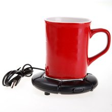 SZS Hot Portable USB Powered Cup Mug Warmer Coffee Tea Drink Heater Tray Pad (Black)(China)