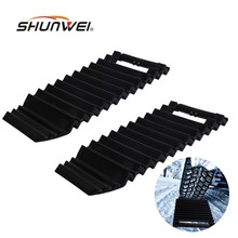 2x Multipurpose Car Anti-Skid Chains Sand Pass Tire pads Car Ice Scraper Snow Shovel Winter Tyre Wheel Nonslip Belt Pad(China)