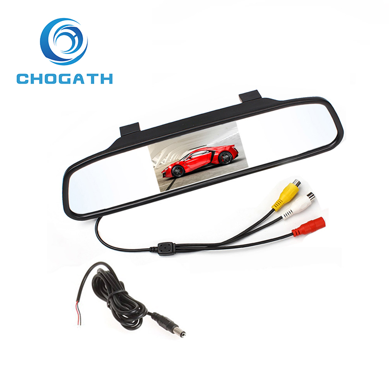 Car Rearview Mirror Monitor With Backup Reverse Camera TFT LCD Color Parking Assistance Rear View Camera Car Styling<br><br>Aliexpress