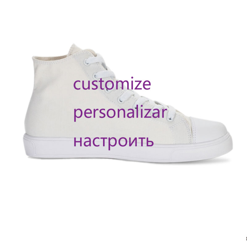 Customied Sneaker Vulcanized Shoes Men Personal Design 3d Print Canvas Shoes High-top Flat Lace-up Male/Women Unisex Sneakers