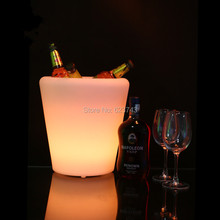 4PCS/LOT Waterproof IP65 illuminated multicolor LED Round S flower pot rechargeable LED glow Ice Bucket with remote control(China)
