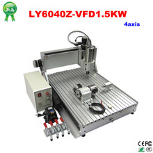 Assembled 3D cnc machine 6040 drilling milling machine 1.5kw spindle metal cutting machine