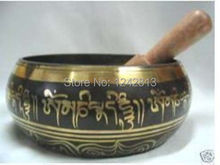 collections GLORIOUS OLD YOGA RARE TIBETAN SINGING BOWL (diameter approx 8.5CM) with stick