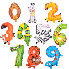 free shipping The new aluminum balloons balloon animals for children 0-9 birthday balloons wholesale toys(China)