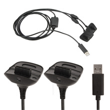 Dual Plugs USB Charging charger Cable for Xbox 360 Controller Replacement Dual Plugs Controller For Video Game Accessories