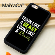 Gym Fitness Training Workout Printed Soft Rubber Phone Case OEM For iPhone 6 6S Plus 7 7 Plus 5 5S 5C SE 4 4S Back Cover Shell