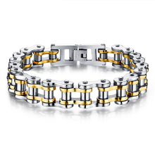 Classical Bicycle Heavy Metal Motorcycle Chain Bracelet Punk Style 316L Stainless Steel Bracelets Bangles For Men Jewelry GS781