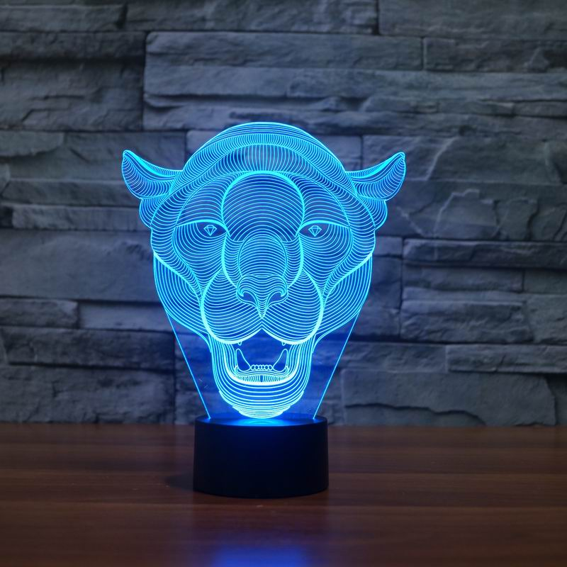 Lion Face 3D LED Light 1