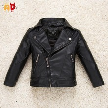AD Cool Design Leather Jackets for Girls Boys Winter Coat for Girls Boys Kids Children's Clothes Breathable Soft Space Leather