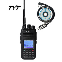 DMR Digital Mobile Radio TYT MD-380 Walkie Talkie 1000 Channels Professional Two Way Radio UHF 400-480MHz + Cable Programming