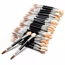 New Sales 50 Pcs/lot Applicator Double-Ended Cosmetic Brushes Women Makeup Eyeshadow Eyeliner Sponge Lip Brush Set Disposable