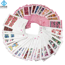 OPHIR 42PCS/lot Mixed Styles Water Transfer Nail Art Stickers Flower Pattern Full Cover Sticker Nail Accessories _KD188(China)
