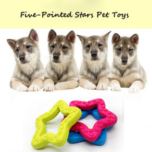lovely Pet 1 Pc Rubber Pet Toy Five-Pointed Stars Reflected Toys Pet Dog Bite Toys Accessories New drop shipping 70703