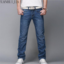 2016 regular fit jeans brand jeans male fashion thin 100% high quality cotton denim blue men jeans size: 28-40 free shipping