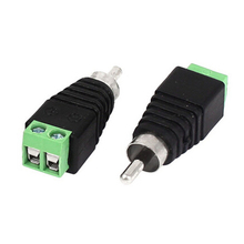 50pcs CCTV/DVR/AV Devices Accessories Video Balun Connector Phono RCA Male Plug to AV Screw Terminal Block Connector kit Tools(China)