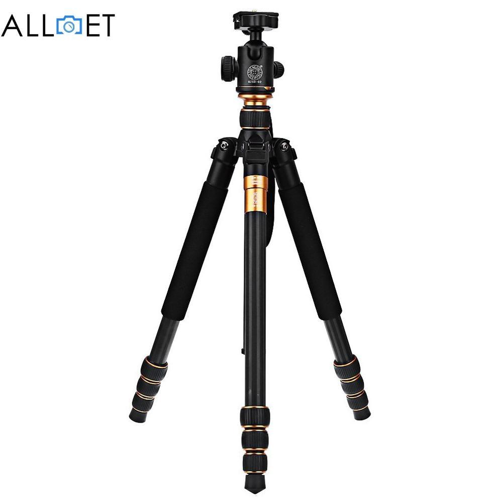 Original QZSD Q999C Professional Carbon Fiber DSLR Camera Tripod Monopod+Ball Head Portable Photo Camera Stand<br><br>Aliexpress
