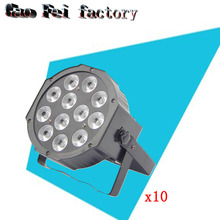 10 Pack 12*12W 4IN1 Led Par Light Indoor Cheap Price RGBW Led Par Cans DMX512 4/8CH Led Par 64 Stage wash dj Light(China)