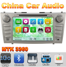 MTK3360 Car DVD Silver Color Automotivo DVD Player For Toyota Camry 2007 2008 2009 2010 2011 Radio GPS TV