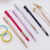 0.5mm Black Inks Gel Pens Office School Stationery Writing Supplies High-quality Metal Touching Roller Signature Pen