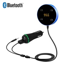 2017 MP3 Stereo Music Player Bluetooth FM Transmitter Handsfree Car Kit 3.5mm Audio AUX +Dual USB Car Charger for iPhone Samsung