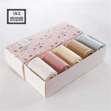 Gift set Double Needle Pumping Ladies Stockings Korean Japanese Girl Soft Candy Colored Feather Yarn Preppy Chic Woman(China)