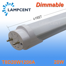 50/Pack Dimmable T8 LED Tube 4FT 20W G13 BI Pin Work Into Existing Fixture Light(China)