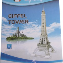 3D puzzle jigsaw Baby toys Eiffel tower Carousel three-dimensional jigsaw puzzles Educational DIY kids toy