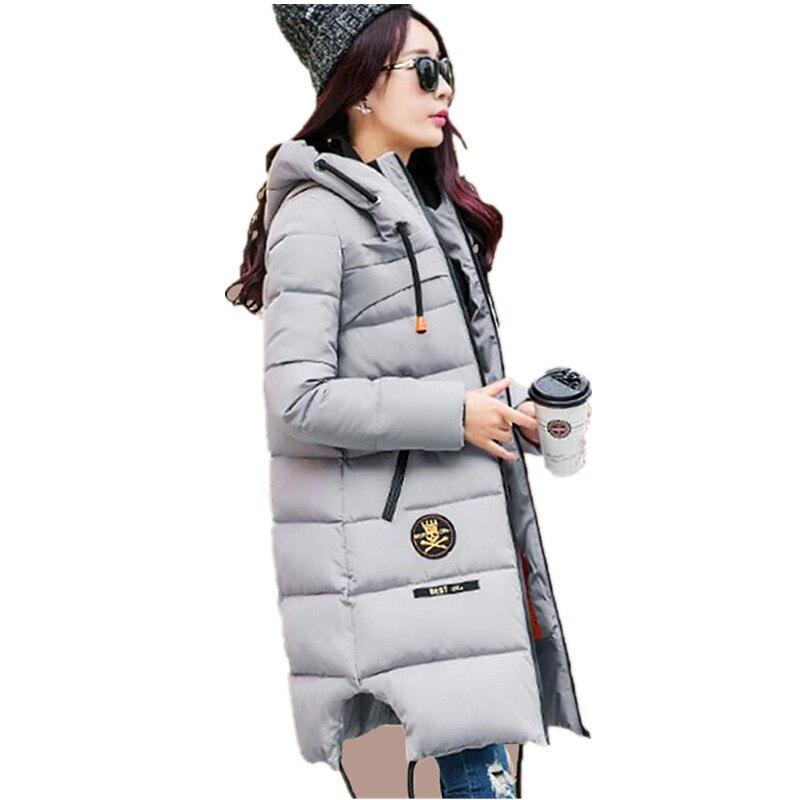 2017 Winter Thicken Women Parka Womens Wadded Jacket Outerwear Cotton-Padded Jacket Medium-Long Coat Army Green Plus Size C2440Îäåæäà è àêñåññóàðû<br><br>