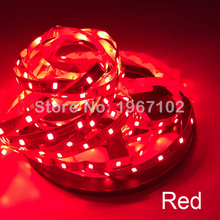 5M or 10M /Pack 2835 SMD More Brighter Than 3528 5050 SMD LED Strip light DC 12V 60LEDs/M Indoor Decorative Tape White Blue Red(China)
