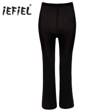 Women's Sexy Ice Silk Open Crotch Transparent Long Flare Pants See Through Capris Sexy Hips Glossy Pants Sexy Underwear Leggings