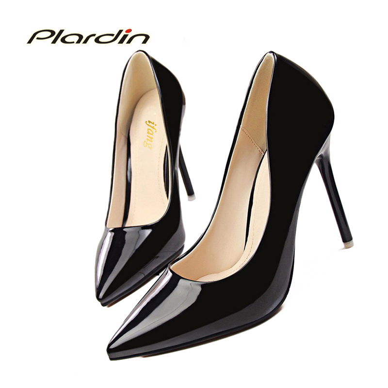 2017 New Spring Autumn The Women Thin Heels Women Pumps Career OL Sexy Shoes Women Fine With Shallow Mouth Pointed Women Shoes<br><br>Aliexpress