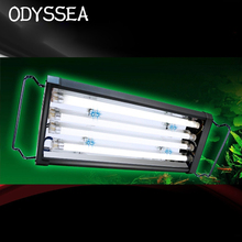 "20"" 50-65CM 72W ODYSSEA Quad T5HO Aquarium Lighting Marine Fowlr Cichilid Freshwater Plants Discus Tetra Fish Tank Light Fixture"