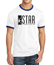 2017 Summer Hot 100% Cotton Superman T Shirts The Flash STAR S.T.A.R labs Men Ringer Tee Shirt  Men Brand Men T-Shirt For Adult