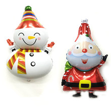 2 pieces large Santa Claus foil balloons merry Christmas party decoration helium balloon Christmas balloons inflatable toys(China)