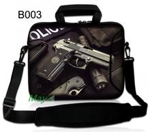"Man's Gun Laptop shoulder bag  message bag  Neoprene Bag Carry Sleeve Case For 10'' Tablet/10.1"" Acer Aspire One/HP Mini 110 210"