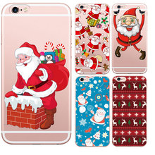 Merry Christmas Soft Santa Claus Gift Design Cases For Iphone 7 7Plus 6 6S 5 5S SE Transparent Clear TPU Phone Cover