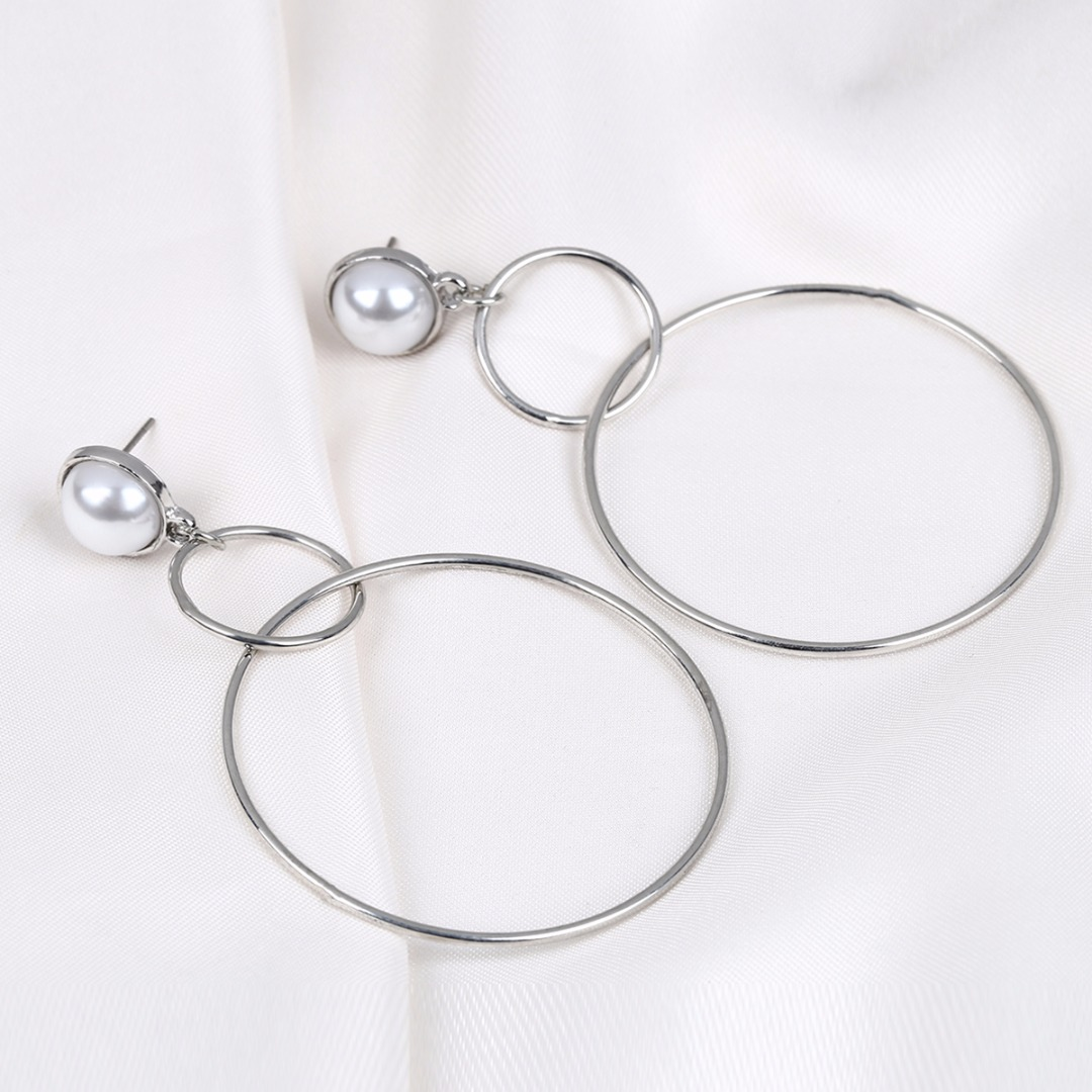 Charming Big Round Circle Earring Sexy Ladies Hoop Earring Femme boucle d'oreille Ear Jewelry For Women Bijoux Femme Shellhard