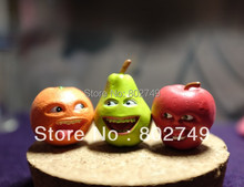 3pcs/lot Linshare Annoying Orange Pear Apple Decoration Toy Christmas Gift Cool Cute Cartoon