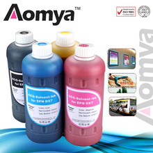 B C M Y LC LM 6ColorsX500ml High Quality Specialized Dye based Eco-solvent ink Suit for Epson Flat Printers