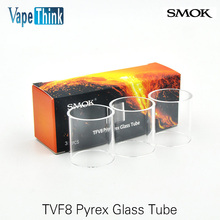 3pcs electronic cigarette Smok tfv8 /tfv8 baby /tfv8 big baby  Atomizer pyrex Pure Glasss Tube Replacement for the tank vape