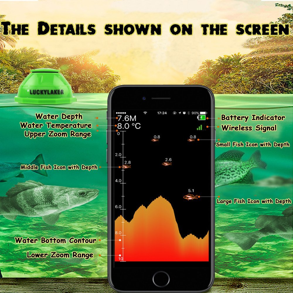 Finder for Fishing Underwater Camera Monitor WIFI Wireless sonar sensor portable with APP for fishing alarm underwater hunting (6)