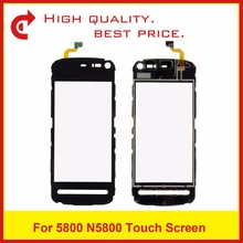 "High Quality 3.2"" For Nokia 5800 N5800 Digitizer Touch Panel Screen Sensor Outer Glass Lens Black Tracking Code+Free Shipping(China)"