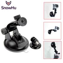 SnowHu Car Suction Cup Adapter Window Glass Tripod For Gopro Hero 5 Hero 4 3+ For sjcam Xiaomi yi Action Camera accessories GP61