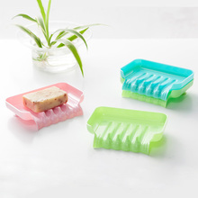 Guaranteed 100% Creative Soap holder bathroom shower soap box vacuum sucker plastic portable Box(China)