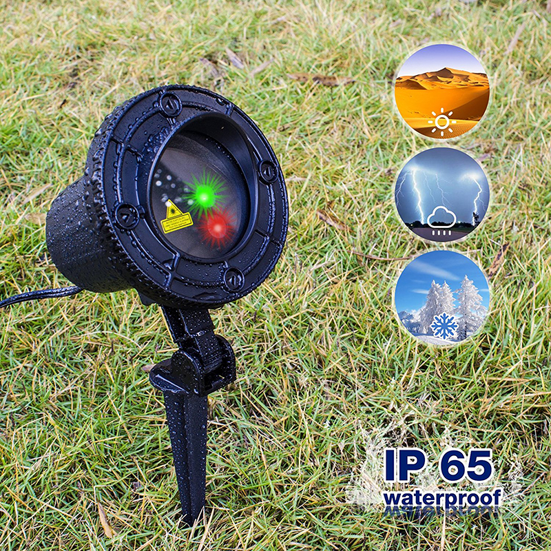 laser christmas light Outdoor Garden Decoration IP65 Waterproof RF Remote Control Laser Star Projector Red Green lamp decorative<br>