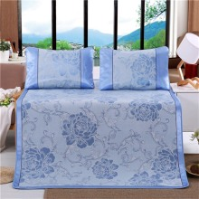 New Design Bed Clothes Breathable Sleeping Mat Jacquard Pattern Ice Silk Mat Mattress Covers for Adult Children