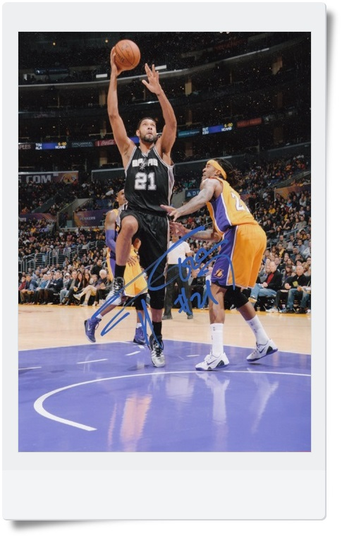 signed Tim Duncan autographed  original photo 7  inches freeshipping 062017 <br>