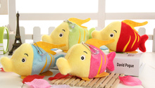 Super CUTE 20PCS Wholesale Plush Toy , FISH 10CM Stuffed Toy Doll , Keychain pendant Wedding Bouquet TOY Gift DOLL