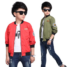 Teenage Kids Jackets For Boys Baseball Uniforms Cartoon Patches Coats Spring Autumn Boys Outerwear Children Street Wear 4 12 14